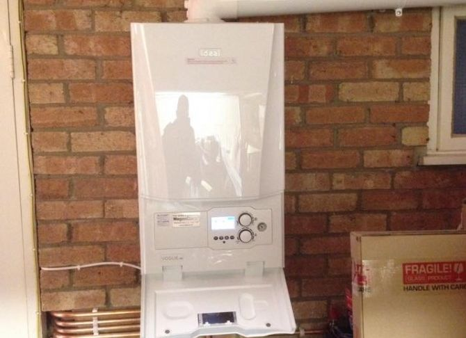 recent projects by our gas engineer in hull - image shows Ideal boiler installation